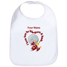 I love you to the moon back - Personalized Bib