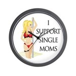 Support Single Moms Wall Clock