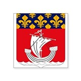 Paris Department Coat of Arms Oval Sticker