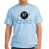 57 Year Anniversary Butterfly T-Shirt