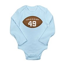 Football Player Number 49 Long Sleeve Infant Bodys