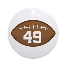 Football Player Number 49 Ornament (Round)