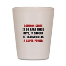 Common Sense Shot Glass