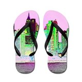 NYC SKYLINE Flip Flops