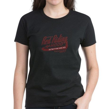 Little Red Riding Hood Since 1697 Women's Dark T-S