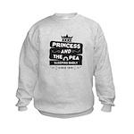 Princess & the Pea Since 1835 Kids Sweatshirt