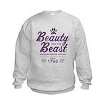 Beauty and the Beast Since 1740 Kids Sweatshirt