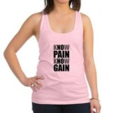 Know Pain Gain Racerback Tank Top