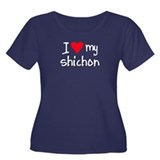 I LOVE MY Shichon Plus Size T-Shirt