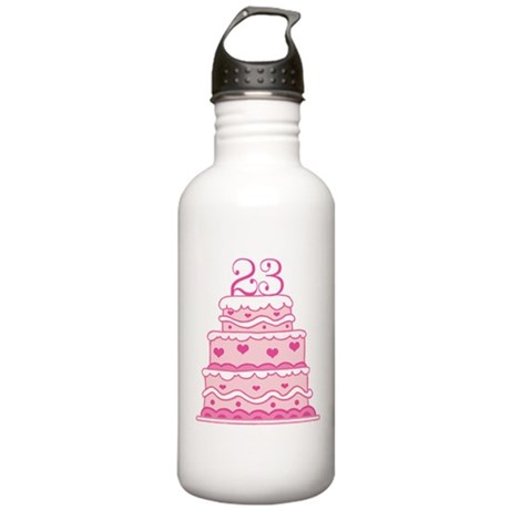23rd Anniversary Cake Stainless Water Bottle 1.0L