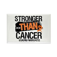 Stronger Than Leukemia Cancer Rectangle Magnet