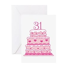 31st Anniversary Greeting Cards