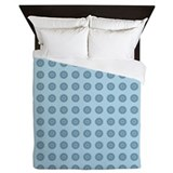 Aqua circles Queen Duvet