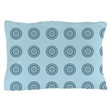 Aqua circles Pillow Case