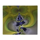 Green Goblin Abstract Fractal Throw Blanket
