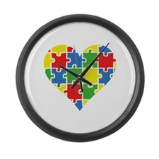 Autism Puzzle Large Wall Clock
