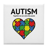 Autism - Together we can solve the puzzle Tile Coa