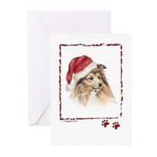 Christmas Shetland Sheepdog Greeting Cards (Packag