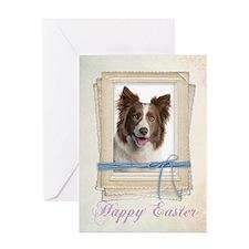 Border Collie Easter Card