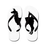 Llama Silhouette Flip Flops