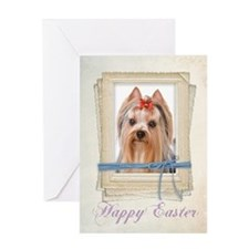 Yorkie Easter Card