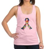 Autism Awareness Ribbon Racerback Tank Top