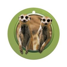 Smiling Meerkats Ornament (Round)