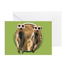 Smiling Meerkats Greeting Cards (Pk of 10)
