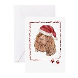 Happy Holidays Sussex Spaniel Greeting Cards