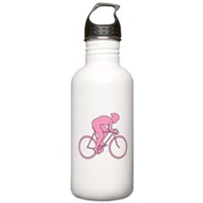 Cycling Design in Pink. Water Bottle
