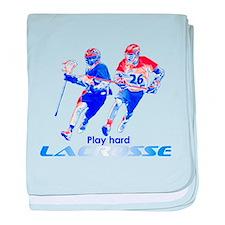 Play Hard Lacrosse baby blanket
