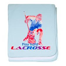 Lacrosse Play Hard Goalie baby blanket