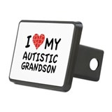 I Love My Autistic Grandson Rectangular Hitch Cove