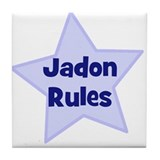 Jadon Rules Tile Coaster