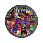 Wall Clock Color Photo Collage