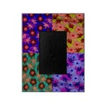 Picture Frame Color Photo Collage of Floral Fabric