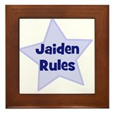 Jaiden Rules Framed Tile