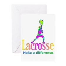 Lacrosse Make A Difference Greeting Cards (20)