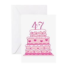 47th Anniversary Cake Greeting Card