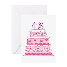 48th Anniversary Cake Greeting Card