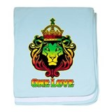 One Love Lion baby blanket