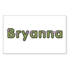 Bryanna Spring Green Rectangle Decal