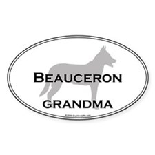 Beauceron GRANDMA Oval Decal