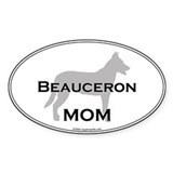Beauceron MOM Oval Decal