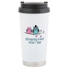 1st Anniversary Owls Ceramic Travel Mug