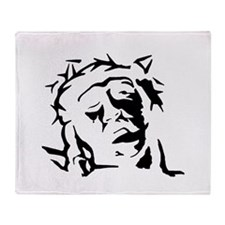 Jesus Silhouette Throw Blanket