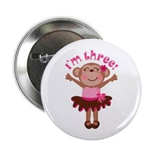 "3rd Birthday Monkey 2.25"" Button"
