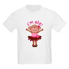 6th Birthday Monkey T-Shirt