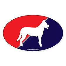 France Flag Beauceron Oval Decal