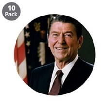"President Ronald Reagan 3.5"" Button (10 pack)"